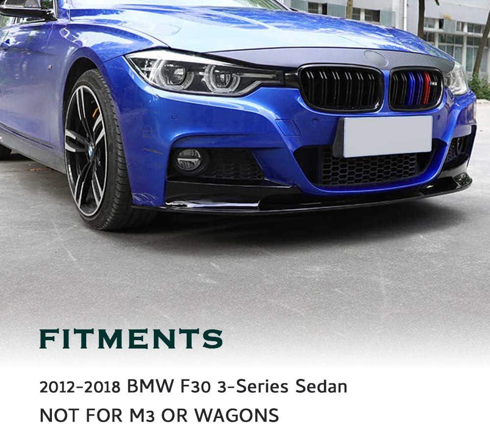 2pcs Car Chin Spoiler Carbon Fiber Style GaofeiLTF Front Bumper Lip Splitter for 2012-2018 BMW 3 Series F30 M Sport