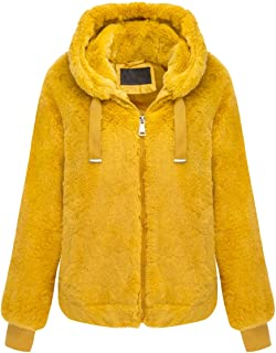 Women's Faux Fur Jacket The Lovely Jacket with Hood for...