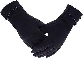 Elonglin Womens Winter Gloves Fleece Lined Touch Screen Gloves Knitted Windproof