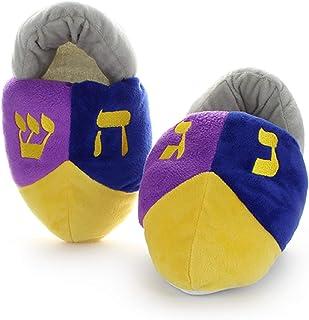 Cazenove Hanukkah Kids Dreidel Slippers. Great Chanukah Gift for Children.