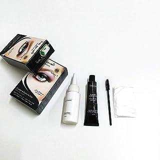 Gjyia Pestañas universales Barba de Cejas Bigote Peine Tinte para el Cabello Kit de Tinte Mascara Permanente Cejas Pestañas Peine Conjunto de cepillos Masculino Femenino Herramientas de Belleza