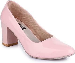 Trendy Fashion Women Pink Block Heels