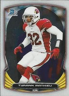 b491a5d57 Amazon.com  2014 Bowman Chrome  2 Tyrann Mathieu Cardinals NFL Football  Card NM-MT  Collectibles   Fine Art