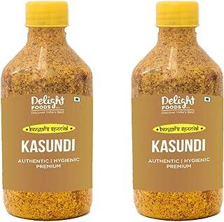 Delight Foods Premium Bengali Kasundi 800gm (400gm*2) | Mustard Sauce