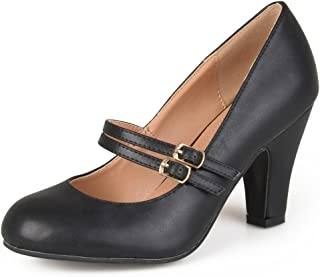 Womens Mary Jane Patent Faux Leather Pumps