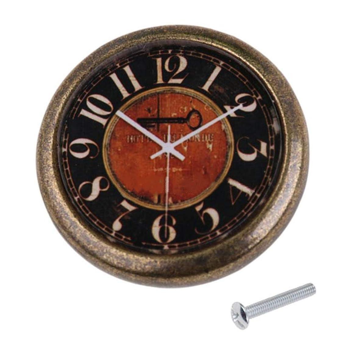 Vintage Clock Drawer Handle Cabinet Door Pull Knob Hardware Wardrobe Handle (Black)