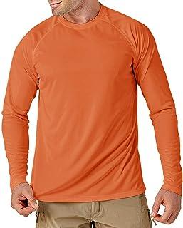 MAGCOMSEN Men's Sun UV Protection Shirts UPF 50+ Outdoor Long Sleeve Casual Lightweight T-shirt