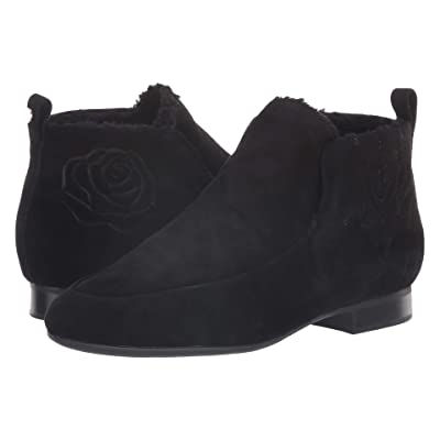 Taryn Rose Brielle (Black Silky Suede) Women