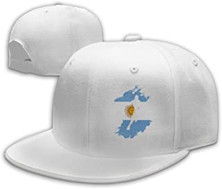 AQK51F-1 Flat Brim Baseball Cap for Mens and Womens, Basketball Player Argentina Flagrn Snapback Peaked Cap