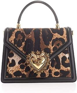 Luxury Fashion   Dolce E Gabbana Womens BB6727AJ283HY13M Brown Handbag   Fall Winter 19