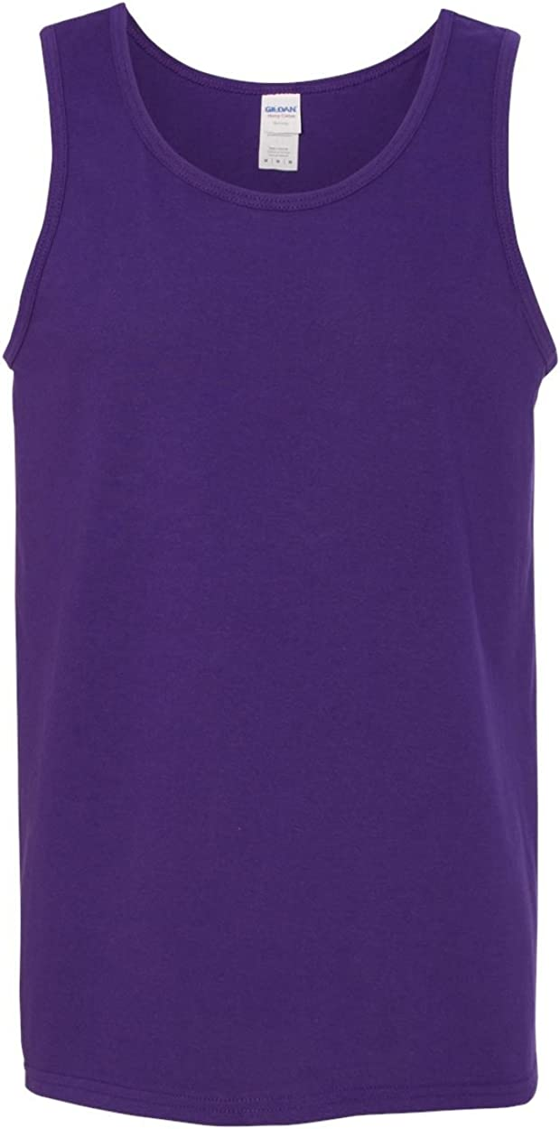 Heavy Cotton Tank Top (G520) Purple, S (Pack of 12)