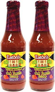 Eaton's Spicy Jamaican Jerk Tomato Ketchup 14oz (Pack of 2)