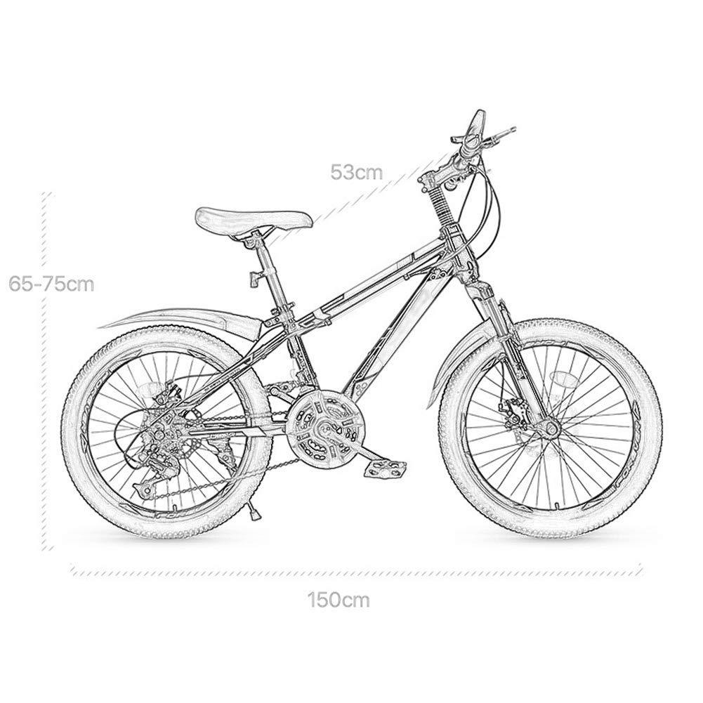 DX Bicicleta Montaña 20 Pulgadas Come Velocidad Variable para niños untain Big Boy Primary School Studen 8 14 años OL Neumáticos Antideslizantes Resistentes al Desgaste: Amazon.es: Jardín