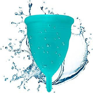 Blossom Menstrual Cup (Small, Solid Blue)