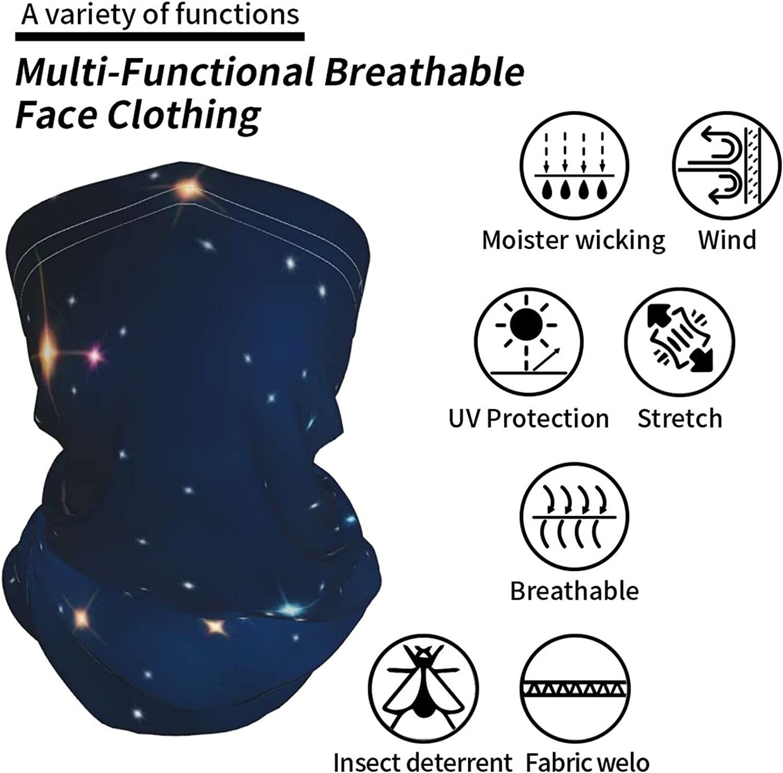 Cosmic Sky Neck Gaiter Multipurpose Headwear Ice Silk Mask Scarf Summer Cool Breathable Outdoor Sport 4 Pcs