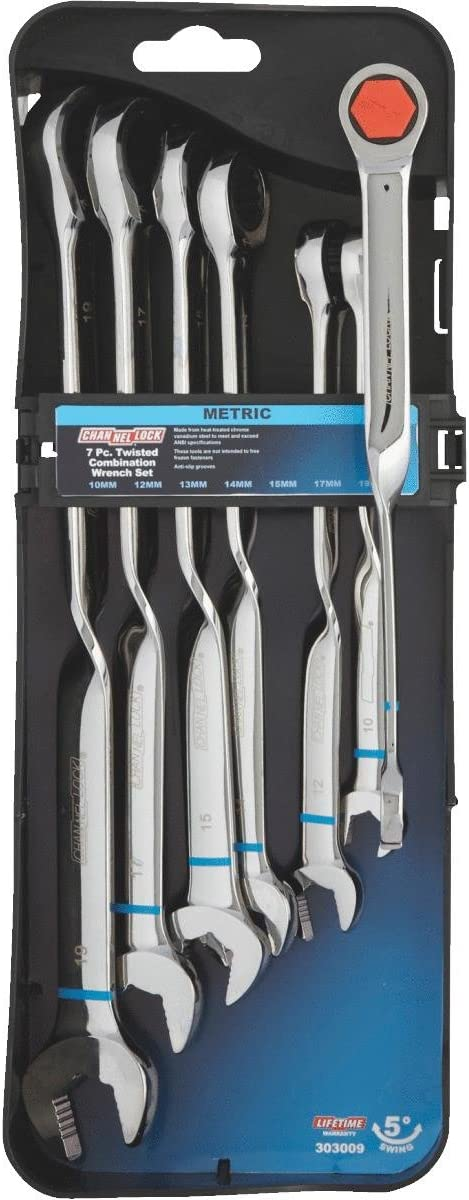 Channellock NEW Metric 12-Point Twisted Max 51% OFF Wrenc Ratcheting Combination