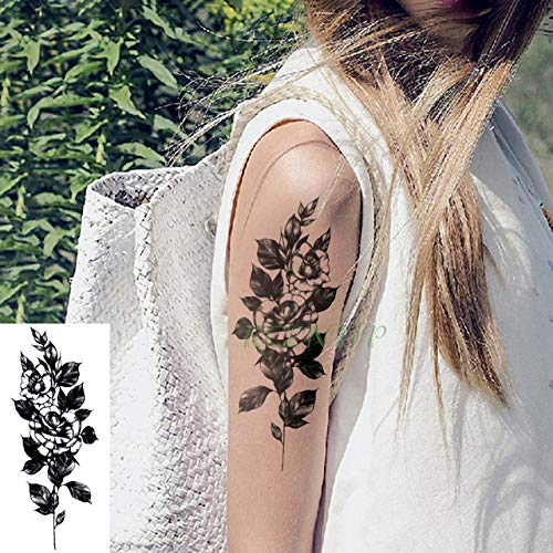 tzxdbh 3pcs-Etiqueta engomada del Tatuaje Impermeable Lotus Totem ...