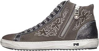 Nero Giardini A806471D - Zapatillas altas para mujer de piel, ante y tela