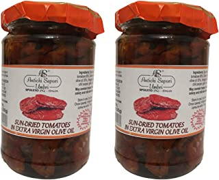 Sun Dried Tomatoes in Extra Virgin Olive Oil | Pack of 2 | Directly imported from selected artisanal farms in Italy