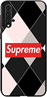okteq Case Cover for Huawei Nova 5T Shock Absorbing PC TPU Full Body Drop Protection Cover matte printed - suprem black pi...