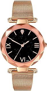 Bravetoshop Fashion Luxury Women Stainless Steel Quartz Wrist Watch for Ladies