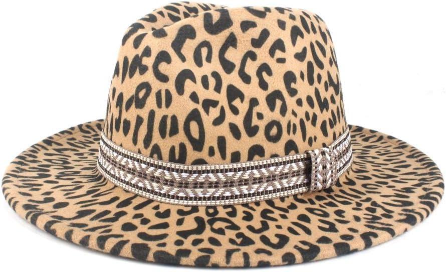 LHZUS Hats Top Hat Men's Women's Loose Wool Felt Fedora Wool Polyester Fedora Hat Formal Party Hat Autumn Winter Hat (Color : Khaki, Size : 56-58cm)