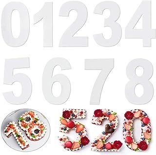 Zahlen Geformt Kuchenform 0-8 Zahlen Set Anzahl Kuchenform Backen Geburtstag Backform Zahlen Gro/ß Backformen Set f/ür Geburtstag Hochzeit Jahrestag Tortendekoration 8 Inch 9 St/ück