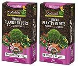Solabiol TERBAC50 TERREAU pour Plantes en Pots BACS JARDINIÈRES 2 x 50 L   Jusqu'à 5 Mois de Nutrition JARDINIERES 2X 50, Utilisable en Agriculture Biologique