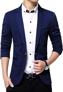 c865b0b4ec7 KIMILILY Sports Jacket for Men Slim Fit One Button Blazer Jackets Casual  Suit Coats