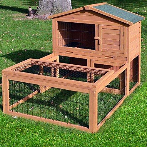 zooprinz Kaninchenstall 06 Hasenkäfig - FLOCKE - Stall für Außenbereich (für Kleintiere: Hasen, Kaninchen, Meerschweinchen usw.)