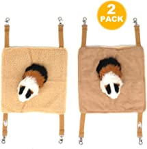 EONMIR 2Pack Small Pet Animal Hamster Hammock for Cage,House Hanging Bed Cage Toys for Mice Rats Chinchilla