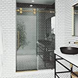 """VIGO VG6041CHCL6074 Elan 56 – 60 Inch Sliding Frameless Shower Door with 3/8"""" Clear Glass and 304 Stainless Steel Hardware, in Chrome Finish"""