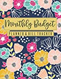 Monthly Budget Planner & Bill Tracker: Bright Floral - Home Finance Budgeting and Bill Organizer - 12 Month