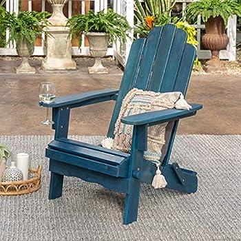 Walker Edison Sullivan 38Inch Classic Folding Adirondack Chair