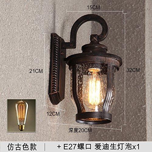 YU-K Applique murale minimaliste mur personnalisé lampadaires jardin balcon terrasse extérieure étanche lumière lumière mur étanche, 1