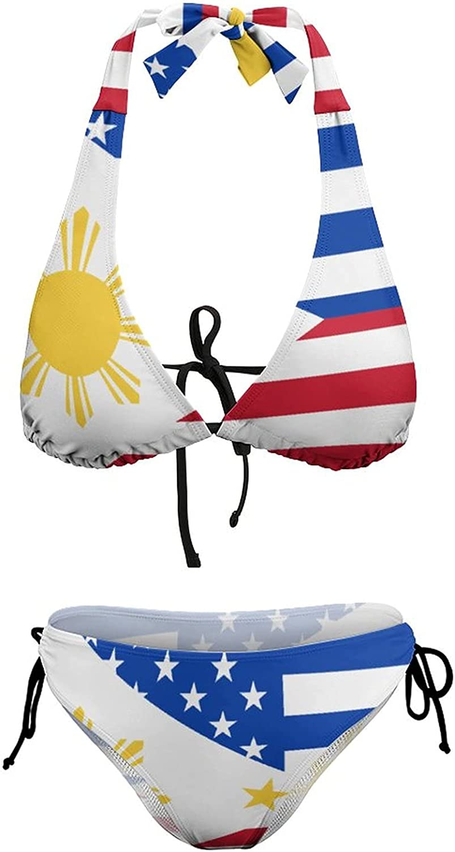 ZePinger 25% OFF American Filipino 2021 model Flag Women's Swimsuit Swimwear T Sexy