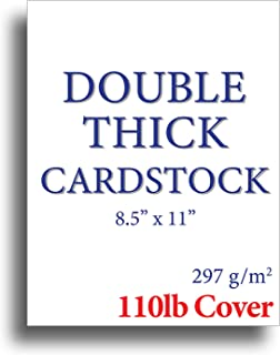 110lb Cover Ultra Heavyweight Thick Cardstock - Bright White - 8.5