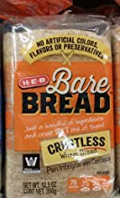 HEB Bare Bread Crustless Wheat Bread 12.5 Oz (Pack of 2)