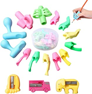 Jiamins 4Pcs//Set Pencil Grips Pencil Holder Pen Writing Aid Grip Posture Correction Training Learning Tool for Kindergarten Toddler