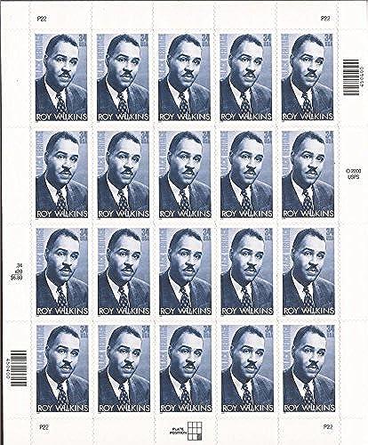 diseño simple y generoso US US US Stamps - 2001 negro Heritage Roy Wilkins - 20 Stamp Sheet  3501 by USPS  precios mas baratos