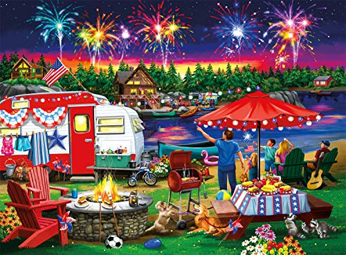 Buffalo Games - Fourth by The Lake - 1000 Piece Jigsaw Puzzle