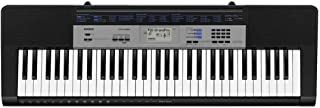 Casio Standard 61 Piano Style Keys Portable Keyboard, Black, (CTK1500)