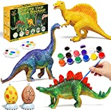 Lehoo Castle Pinturas para Niños Juegos de Manualidades Pintar Dinosaurios Pintar Manualidad Pintar Dinosaurios Figuras de Dinosaurio para Pintar Kit Manualidades para Niños con Tatuajes Dinosaurio