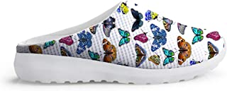 AXGM Men's Slippers Mesh Width Clogs Mules Beach Shoes Colourful Butterflies Graphic Trend Slipper Boys Leisure Shoes Over...
