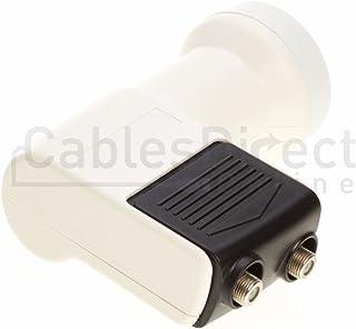 FTA Universal Ku Band LNB, Dual, 0.3dB Satellite Dish LNBF, Linear, Polarized (0.3 dB, Dual)