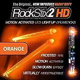 ROCKSTIX 2 HD ORANGE BRIGHT LED LIGHT UP DRUMSTICKS with fade effect Set your gig on fire! (ORANGE ROCKSTIX) [並行輸入品]