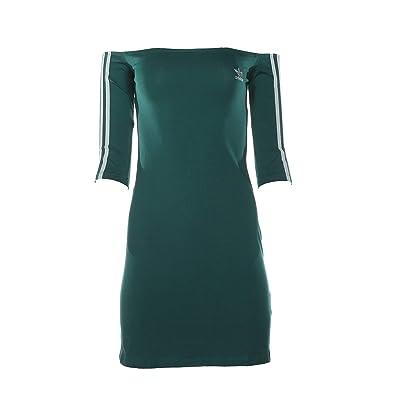 adidas Originals Shoulder Dress (Noble Green) Women