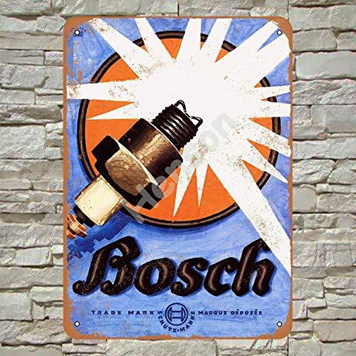 Lina Bosch Zündkerzen Retro Straßenschild Haushalt Metall Blechschild Bar Cafe Auto...