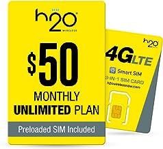 h2o $50/Month Plan - SIM Starter Kit Bundle