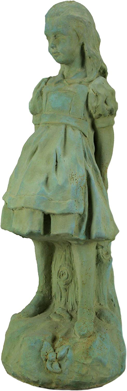 Popular brand in the world Alice Wonderland Verdigris in-CEMENT Ranking TOP6 Finish Statue 19.5